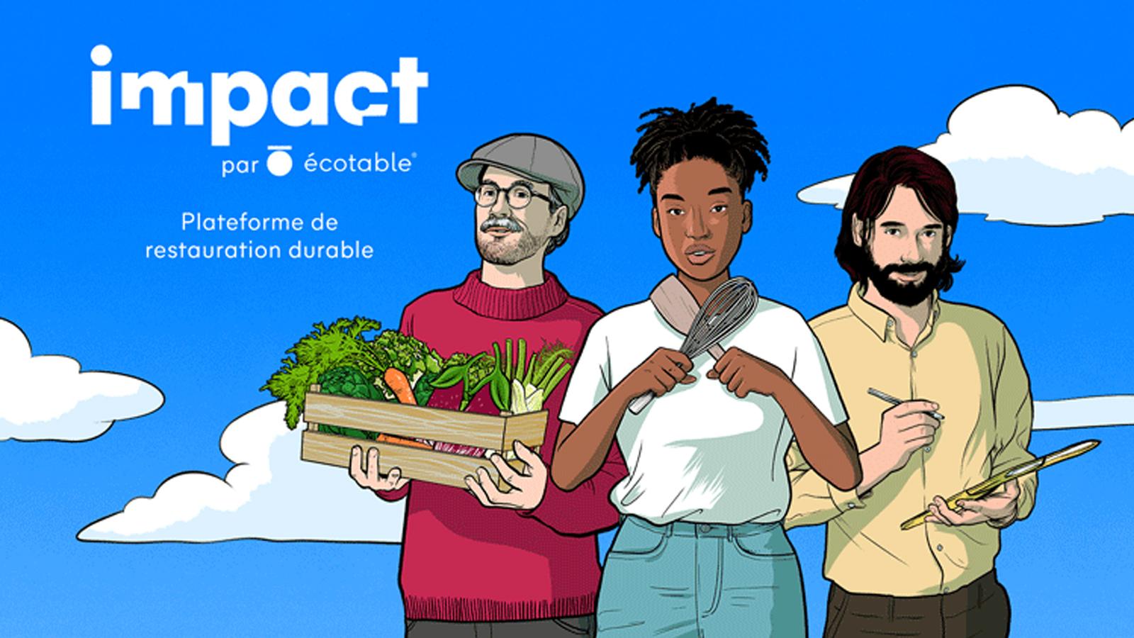 La plateforme Impact par Ecotable